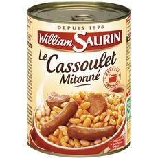WILLIAM SAURIN Cassoulet mitonné sans colorant sans arôme artificiel 1 personne 420g