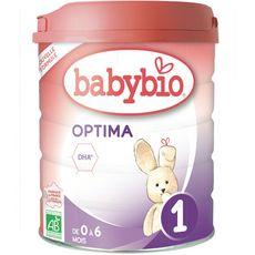 Babybio lait de croissance bio optima 1 -800g