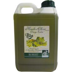 Robert Huile d'olive vierge extra bio fruitée non filtrée bidon 2l