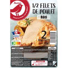 Auchan Demi filets de poulet rôti x2-150g