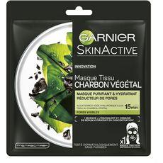 GARNIER SkinActive masque tissu charbon végétal réducteur de pores 1 masque