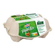 LUSTUCRU Oeufs de poules élevées en plein air 6 œufs