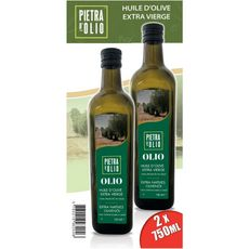 PIETRA Pietra d'Olio Huile d'olive vierge extra 2x75cl 2x75cl