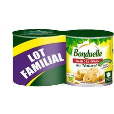 BONDUELLE Bonduelle Champignons émincés épais au naturel 2x230g 2x230g