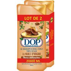 DOP Dop Shampooing 2en1 à l'huile d'argan 2x400ml 2x400ml