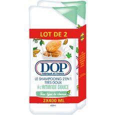 Dop shampooing 2 en1 amande douce 2x400ml