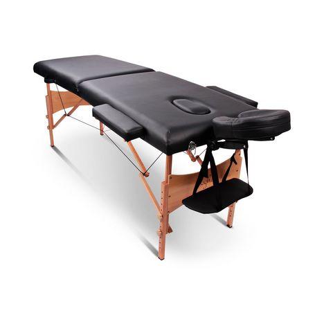 YOGHI Table de massage pliante TDM102 - Noir