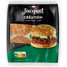 JACQUET Burgers création aux graines x4 260g