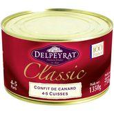 Delpeyrat confit de canard 4/5 cuisses boite 1,350kg