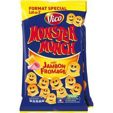 Monster MONSTER MUNCH Biscuits soufflés goût jambon fromage
