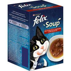 PURINA ONE Purina felix soup 6x48g