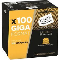 CARTE NOIRE Carte Noire lungo giga format x100 dosettes 560g 100 dosettes 560g