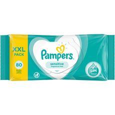 PAMPERS Lingettes sensitive XXL pack 80 lingettes