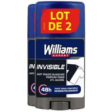 Williams déodorant stick invisible 2x75ml