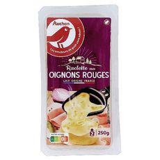 Auchan fromage à raclette aux oignons rouges 10 tranches250g