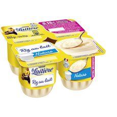 LA LAITIERE Riz au lait naturel 4x115g