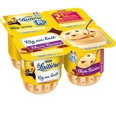LA LAITIERE LA LAITIERE Riz au lait rhum raisins 4x115g 4x115g