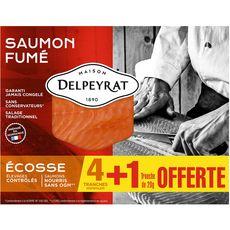 Delpeyrat Saumon fumé d'Ecosse tranche x4 +1 offerte 150g