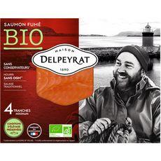 DELPEYRAT Saumon fumé bio 4 tranches 120g