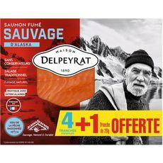 Delpeyrat saumon fumé sauvage tranche x4 +1offerte 140g