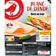 Auchan Blanc de dinde 4tranches + 2offerts 190g