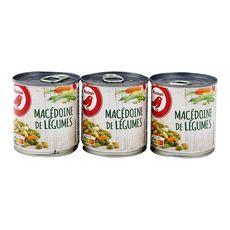 AUCHAN Macédoine de légumes 3x130g
