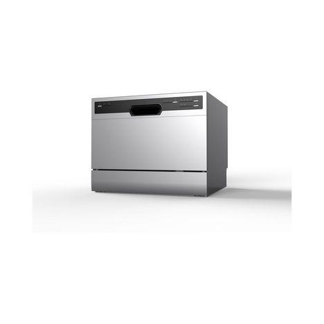 QILIVE Lave vaisselle pose libre 145107, 6 couverts, 55 cm, 49 d, 6 programmes