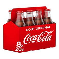 Coca cola Boisson gazeuse aux extraits végétaux original verre 8x20cl
