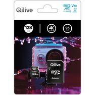 QILIVE Carte mémoire MicroSDXC V30 128 Go + Adaptateur MicroSD