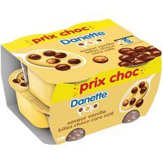 Danette crème dessert pop chocolat vanille caramel 4x120g