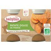 Babybio patate douce 2x130g dès 4 mois