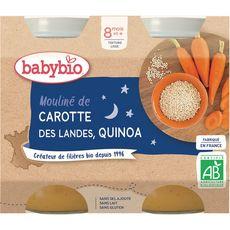 BABYBIO Babybio légumes quinoa bio pot 2x200g dès 8mois