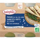 Babybio Babybio Petit pot petits pois maïs doux riz dès 6 mois 2x200g