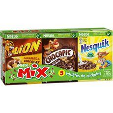 Nesquik NESTLE Mix assortiment de mini boites de céréales Lion-Chocapic-Nesquik