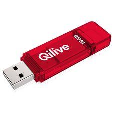 QILIVE Clé USB 16Go 2.0 Q.8391 Rouge