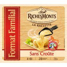 RICHESMONTS RichesMonts Fromage à raclette sans croûte 28 tranches 750g 28 tranches 750g