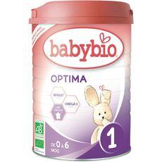 Babybio Optima 1 lait 1er âge en poudre dès la naissance à 6 mois 900g