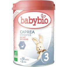 Babybio Caprea 3 lait de croissance chèvre en poudre bio dès 10mois 900g