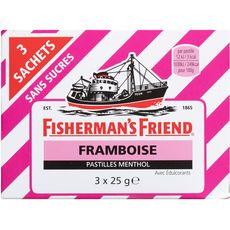 Fisherman's Friend framboise pastilles menthol avec édulcorants 3x25g
