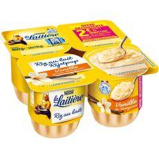LA LAITIERE Riz au lait vanille 4x115g