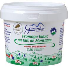 LES MONTS YSSINGELAIS Fromage frais 7,8%mg 1kg