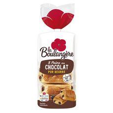 LA BOULANGERE Pains au chocolat pur beurre x8 400g