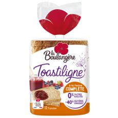 LA BOULANGERE La Boulangère toastiligne pain de mie complet 500g