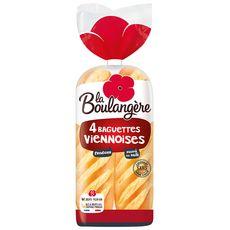 LA BOULANGERE Baguettes viennoise fendues x4 340g