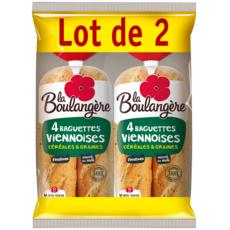 La Boulangère baguette viennoise aux céréales 2x4 -680g