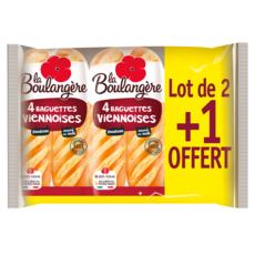 LA BOULANGERE La Boulangère baguettes viennoises 2x4 +1offert