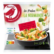 AUCHAN Poêlée normande aux légumes 5 portions 750g
