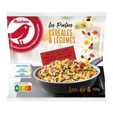AUCHAN Poêlée céréales et légumes sauce épicée 750g