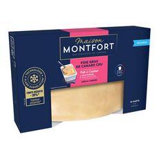 MONTFORT Foie gras de canard cru éveiné 10 portions 450g