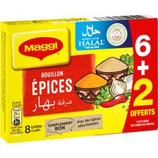 MAGGI Maggi bouillon épices halal x6 +2 -84g 6+2 84g